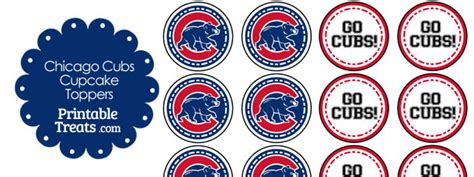 Chicago Cubs Sweepstakes - chicago cubs cupcake toppers printable treats com