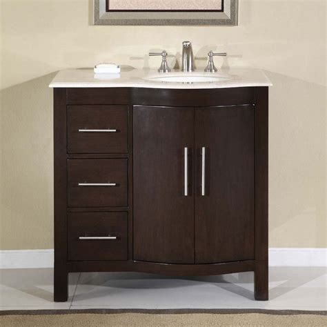 bathroom cabinet with sink and faucet 36 quot silkroad kimberly single sink cabinet bathroom