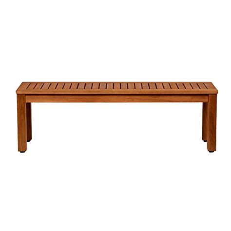 eucalyptus bench amazonia aster eucalyptus backless patio bench 52