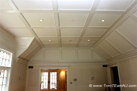 coffered ceiling with beaded raised inner panel bedroom coffered ceilings and beams traditional bedroom new