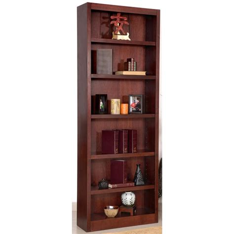 cherry wood shelves concepts in wood 6 shelf bookcase 206542 office at