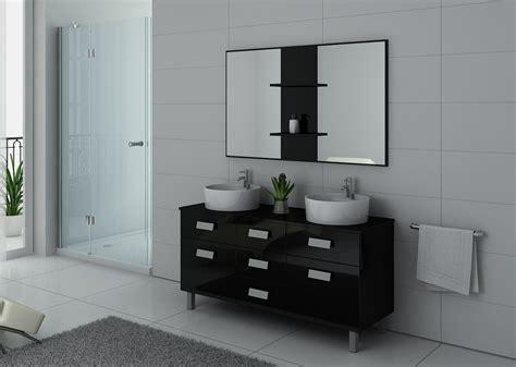 meuble de salle de bain  vasques sur pieds meuble  vasques noir sur pieds