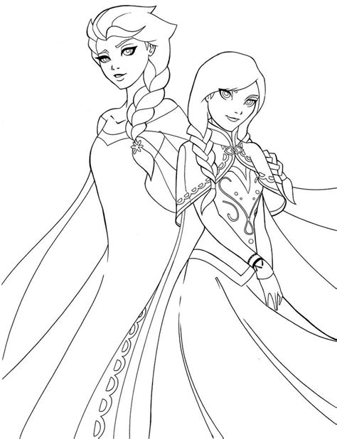 coloring page of elsa and anna 14 images of anna and elsa frozen castle coloring pages