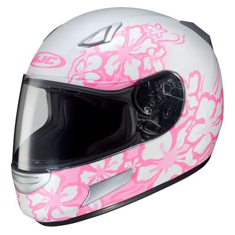 helmet design for ladies black pink white