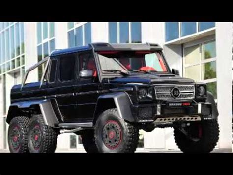 mercedes 6 wheel pickup 2014 brabus mercedes g 65 6x6 6 wheel truck iaa