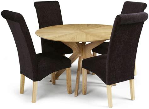 Aubergine Dining Chairs Buy Serene Bexley Oak Dining Set With 4 Kingston Aubergine Plain Fabric Dining Chairs