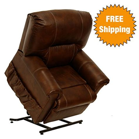 full grain leather recliner catnapper power lift full lay out chaise recliner with