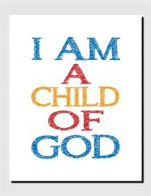 Christian Home Decor Wall Art bible verse scripture art i am a child of god printable