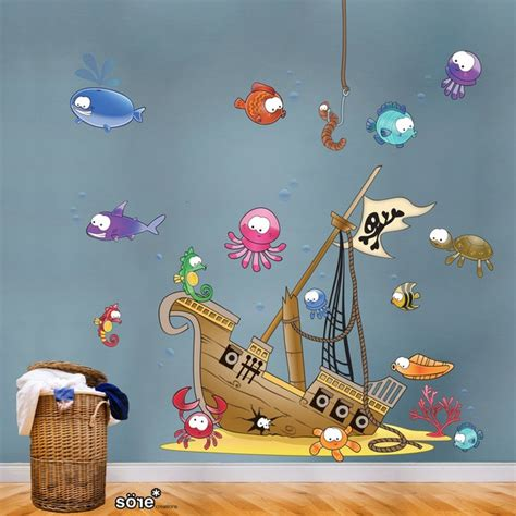 pirate ship wall stickers sunken pirate ship wall sticker best pirate ships and nursery ideas