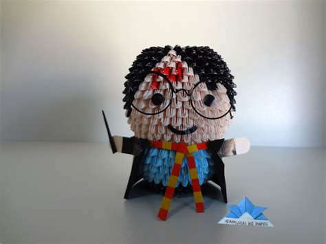 Harry Potter Origami - origami 3d harry potter samurai de papel