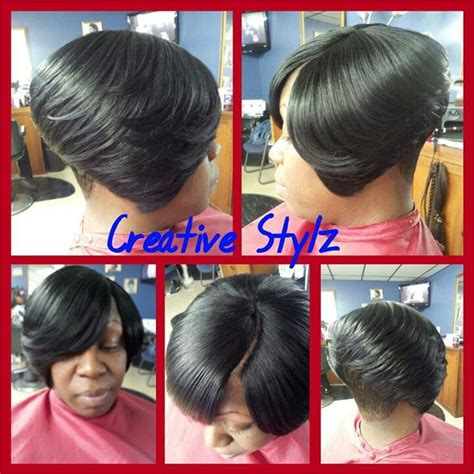 invisible part quick weave hair short hair styles