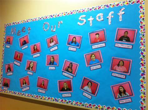 layout for bulletin board ideas about staff bulletin boards on pinterest meet our
