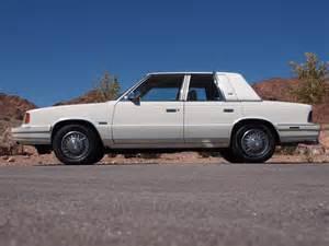 1986 Chrysler Lebaron Turbo 1986 Chrysler Lebaron Turbo Sedan Ebay
