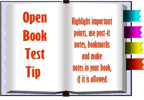 test for open open book test tip highlight important points use post