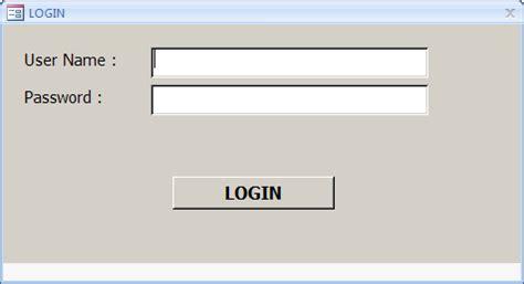 membuat form login di access 2007 cara membuat form login di microsoft access hidayatgatok