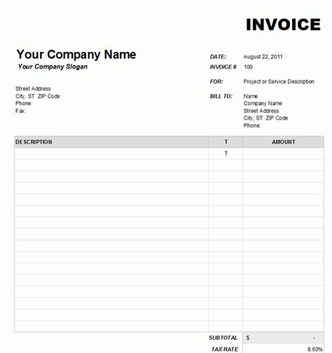 awesome invoice template on excel photos resume ideas