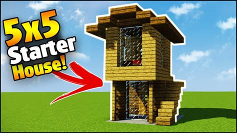 make a house minecraft 5x5 starter house tutorial how to build a