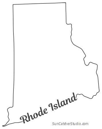 rhode island map outline printable state shape