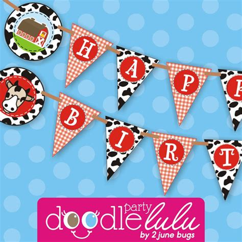 printable animal birthday banner farm birthday party banner farm birthday party