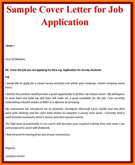 exle of formal letter for job application 11 exles of covering letters for job applications