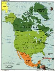 american canadian map
