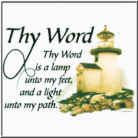 thy word is a l unto my religion lighthouse t