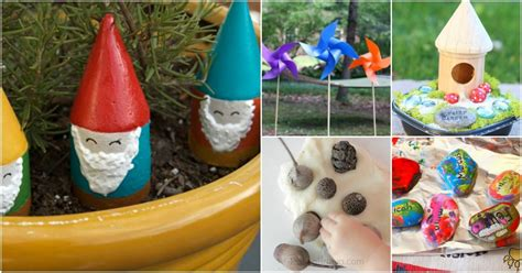 fun  creative diy spring garden crafts  kids