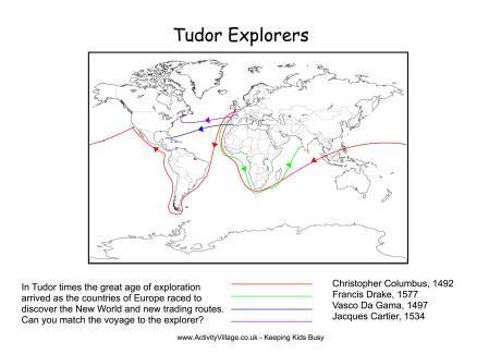 Explorers Worksheets by Tudor Explorers Worksheet 1