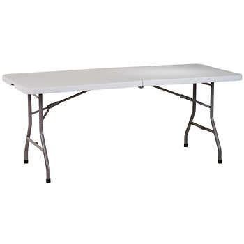 6ft Folding Table Costco 6 Ft Center Fold Multipurpose Table