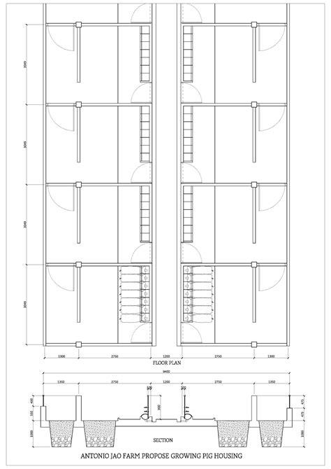 piggery floor plan design piggery floor plan design meze blog