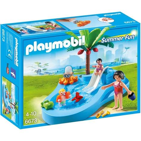 Bebe Is Funfun For Summer 2007 by Playmobil 6673 Bassin Pour B 233 B 233 S Et Mini Toboggan Achat