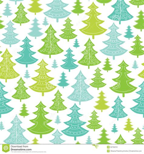 free holiday pattern background holiday christmas trees seamless pattern stock vector