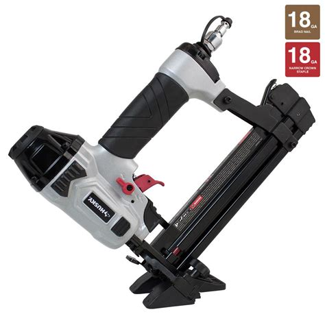husky pneumatic 18 4 in 1 mini flooring nailer and