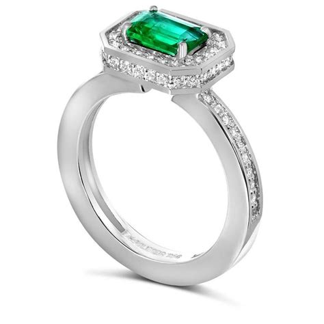 Handmade Engagement Rings Nyc - alex soldier emerald white gold ring one of a