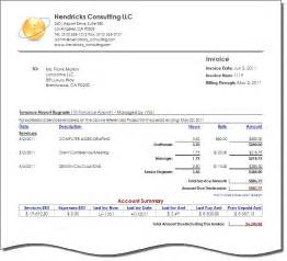Invoice Template Consulting Consulting Invoice Template Free Best Template Collection