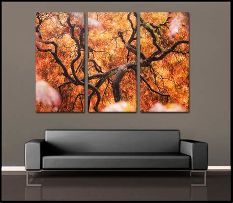 Wall Murals Cityscapes quot tree of color quot abstract nature 3 piece fine art canvas