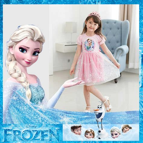 Frozen Elsa Silk Pink Dress new 2014 frozen dress frozen elsa dress for sleeve white pink princess
