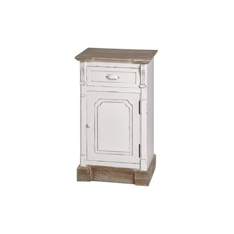 new england shabby chic bedside cabinet antique white