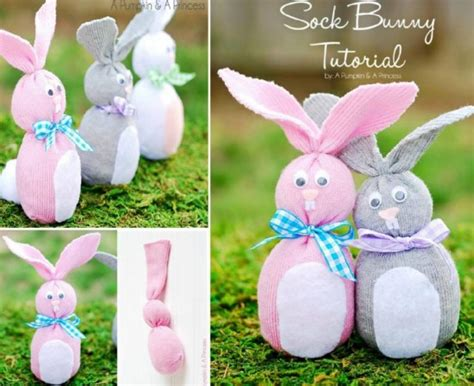 sock bunny easy wonderful diy sock bunny