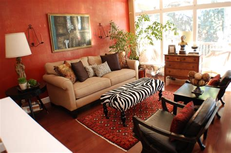 animal print living room decor red living space photos hgtv