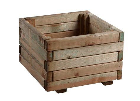 rustica wooden square planter h27cm x w40cm 163 29 99