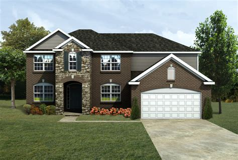 mi summerfield front entry lombardo homes
