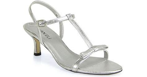 Sandal Murah Okada M Silver lyst vaneli marielda strappy kitten heel sandal in silver in metallic