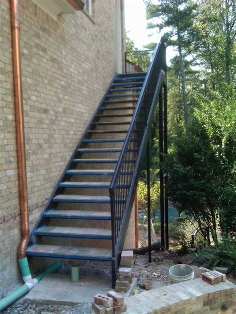exterior stairs spiral staircase metal stairs contemporary outdoor products atlanta by womack iron