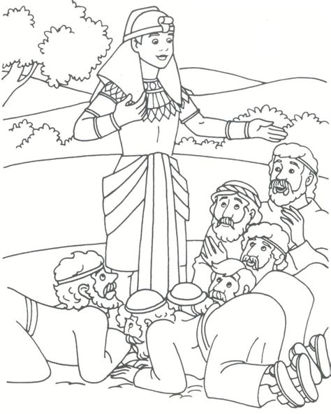 coloring pages joseph and his brothers joseph and his brothers coloring page joseph forgives