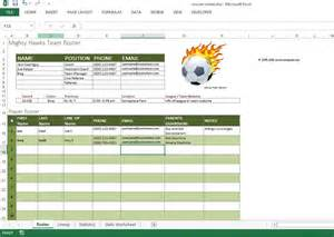 Sports Team Roster Template by Soccer Roster Free Excel Template Excel Templates For