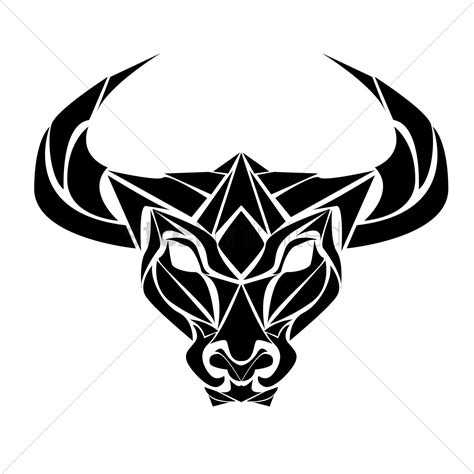 ox tribal tattoo ox vector image 1443657 stockunlimited