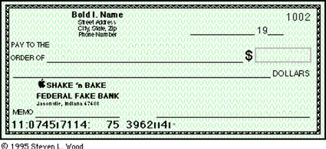 Freewares On Educators News Personal Check Template