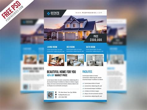real estate flyer template psd best free flyer templates psd 187 css author