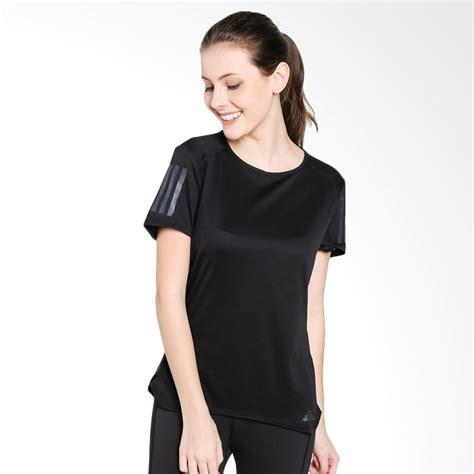 Kaos T Shirt Adidas Three Stripes Murah Berkualitas jual adidas running response kaos olahraga wanita black cf2148 harga